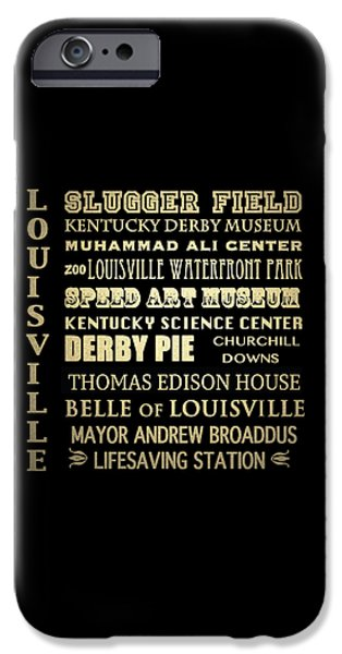 Louisville Famous Landmarks IPhone Case by Patricia Lintner