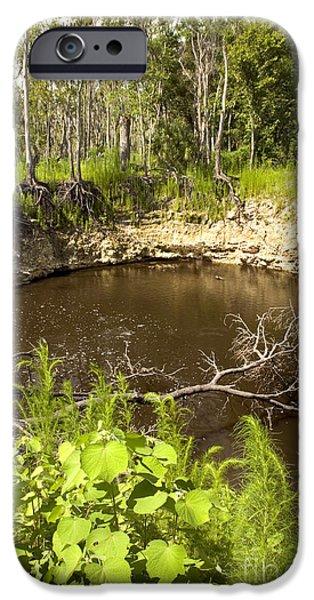 Sinkhole, Florida IPhone Case by Inga Spence