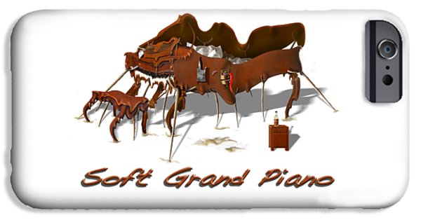 Soft Grand Piano  IPhone Case by Mike McGlothlen