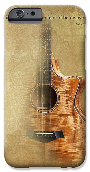 Taylor Inspirational Quote, Acoustic Guitar Original Abstract Art IPhone 6s Case by Pablo Franchi