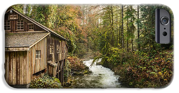 The Cedar Creek Grist Mill In Washington State. IPhone Case by Jamie Pham