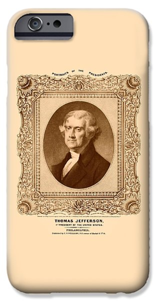 Thomas Jefferson IPhone 6s Case by War Is Hell Store