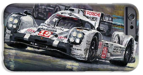 2015 Le Mans 24 Lmp1 Winner Porsche 919 Hybrid Bamber Tandy Hulkenberg IPhone Case by Yuriy Shevchuk