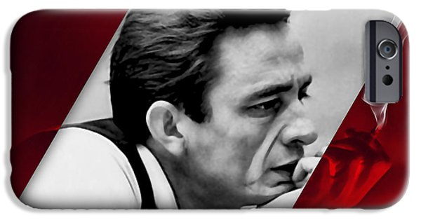 Johnny Cash Collection IPhone Case by Marvin Blaine
