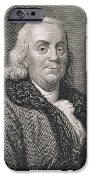 Benjamin Franklin IPhone Case by Joseph Siffred Duplessis