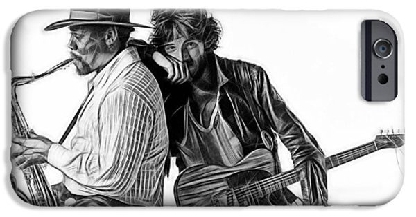 Bruce Springsteen Clarence Clemons Collection IPhone Case by Marvin Blaine