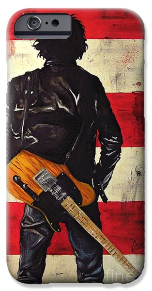 Bruce Springsteen IPhone Case by Francesca Agostini