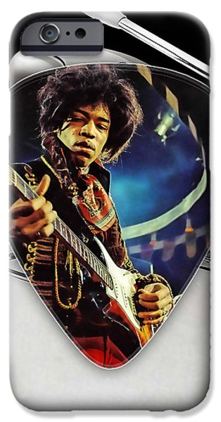 Jimi Hendrix Guitar Pick Collection IPhone Case by Marvin Blaine