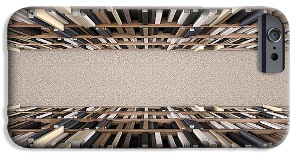 Library Bookshelf Aisle IPhone Case by Allan Swart