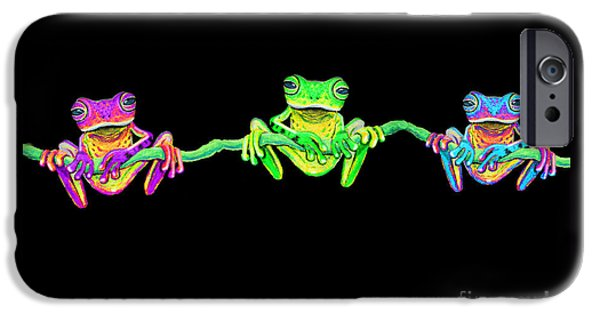 3 Little Frogs IPhone Case by Nick Gustafson