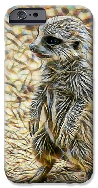 Meerkat IPhone Case by Marvin Blaine