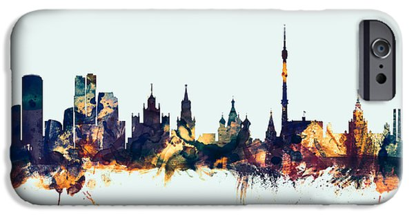 Moscow Russia Skyline IPhone 6s Case by Michael Tompsett