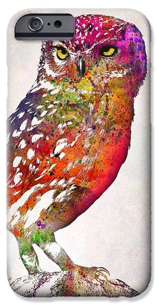 Owl  IPhone Case by Mark Ashkenazi