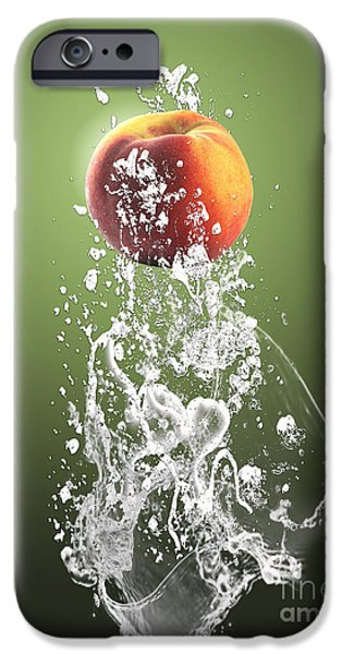 Peach Splash IPhone 6s Case by Marvin Blaine