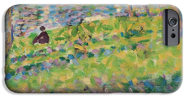 Study For Sunday Afternoon On The Island Of La Grande Jatte IPhone Case by Georges Pierre Seurat