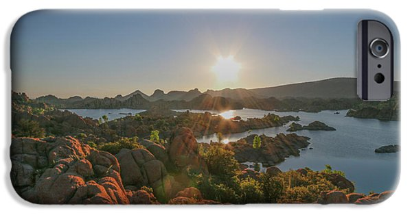 Sunrise At Watson Lake IPhone Case by Teresa Wilson