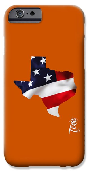 Texas State Map Collection IPhone Case by Marvin Blaine