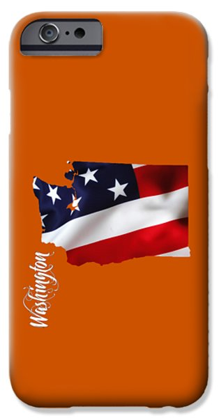 Washington State Map Collection IPhone Case by Marvin Blaine