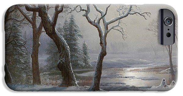 Winter In Yosemite IPhone Case by Albert Bierstadt