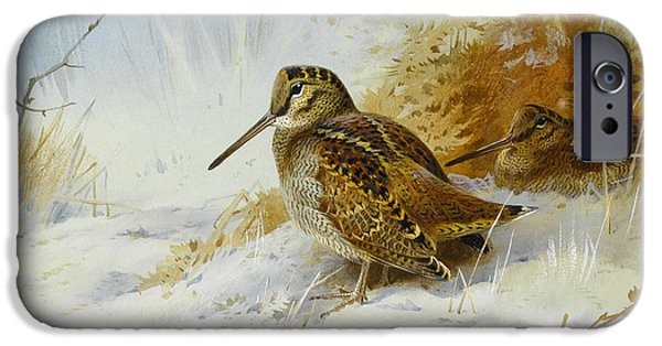 Winter Woodcock IPhone 6s Case by Archibald Thorburn