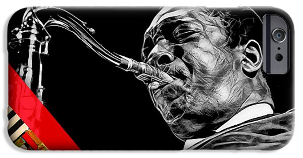 John Coltrane Collection IPhone Case by Marvin Blaine