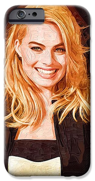 Margot Robbie Painting IPhone 6s Case by Best Actors