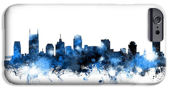 Nashville Tennessee Skyline IPhone 6s Case by Michael Tompsett