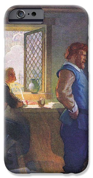 Scene From The Courtship Of Miles Standish IPhone Case by Newell Convers Wyeth