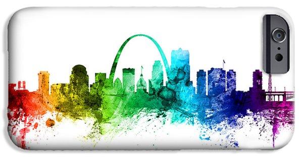 St Louis Missouri Skyline IPhone Case by Michael Tompsett