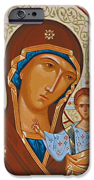 Virgin And Child Painting IPhone Case by Christian Art