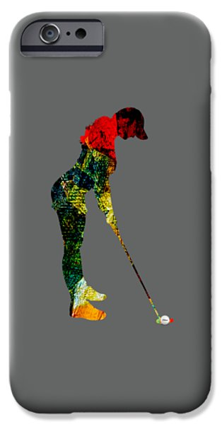 Womens Golf Collection IPhone 6s Case by Marvin Blaine