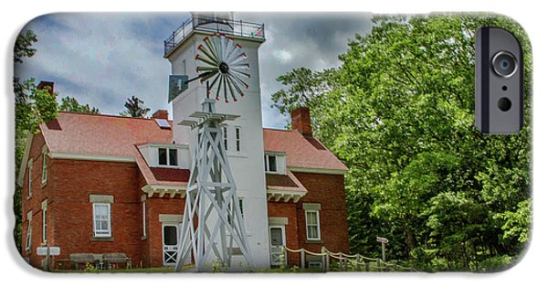 40 Mile Point Lighthouse IPhone Case by Bill Gallagher
