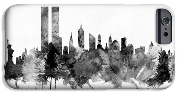 New York City Skyline IPhone Case by Michael Tompsett