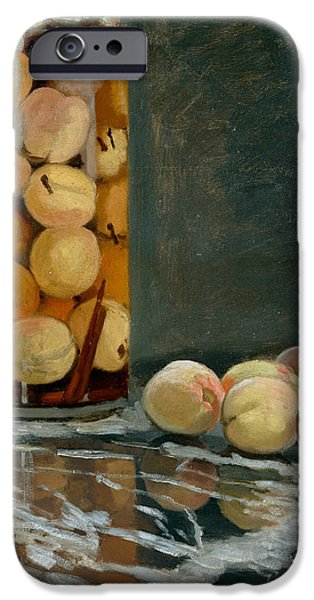 Jar Of Peaches IPhone 6s Case by Claude Monet