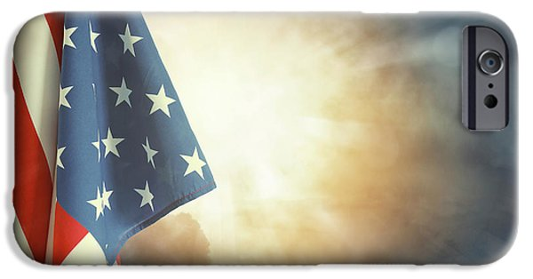 Flag And Sky IPhone Case by Les Cunliffe