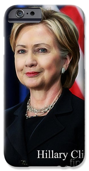 Hillary Clinton 2016 Collection IPhone Case by Marvin Blaine
