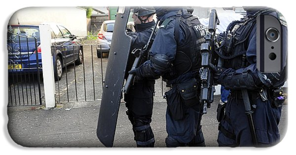 Loyalist Protesters Attack Police Lines IPhone Case by Andrew Chittock