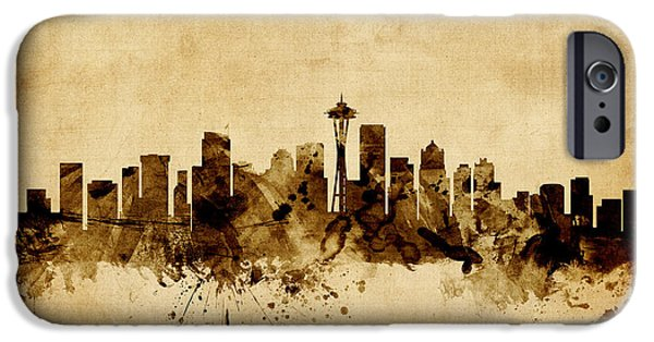 Seattle Washington Skyline IPhone 6s Case by Michael Tompsett