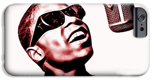 Stevie Wonder Collection IPhone Case by Marvin Blaine