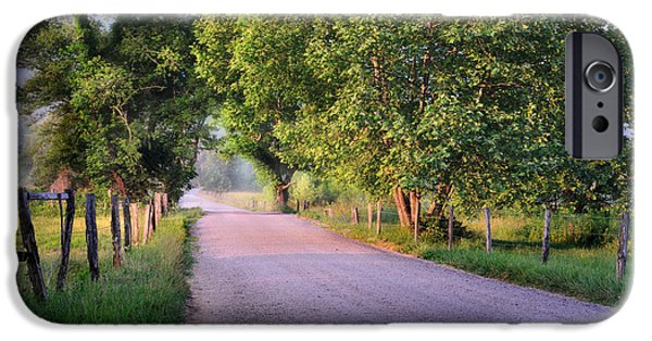Morning Light Sparks Lane  IPhone Case by Thomas Schoeller