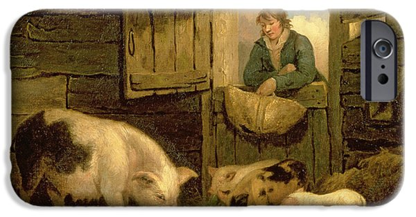 A Boy Looking Into A Pig Sty IPhone 6s Case by George Morland