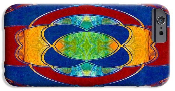 A Brisk Imagination Abstract Bliss Art By Omashte IPhone Case by Omaste Witkowski