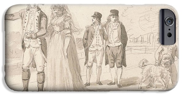 A Family In Hyde Park IPhone 6s Case by Paul Sandby