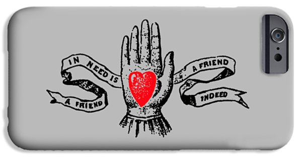 A Friend In Need Is A Friend In Deed Tee IPhone Case by Edward Fielding