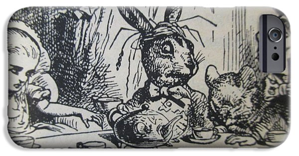 A Mad Tea-party IPhone Case by David Lovins