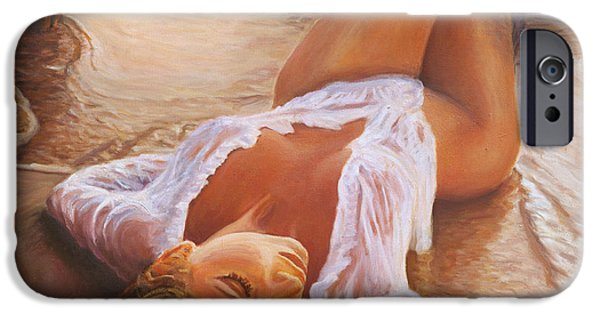 A Mermaid In The Sunset - Love Is Seduction IPhone 6s Case by Marco Busoni