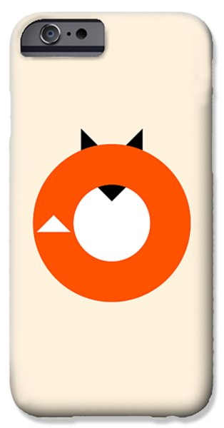Fox IPhone Case featuring the drawing A Most Minimalist Fox by Nicholas Ely