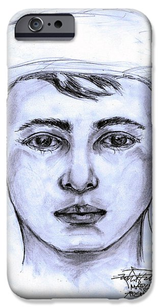 A Pensive Boy IPhone Case by Robert Salter