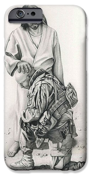 A Soldier's Prayer IPhone Case by Linda Bissett