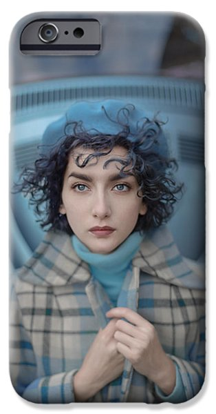A Study In Blue IPhone Case by Anka Zhuravleva